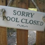 pool-closed sign on door