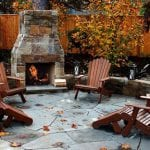 patio furniture in fall