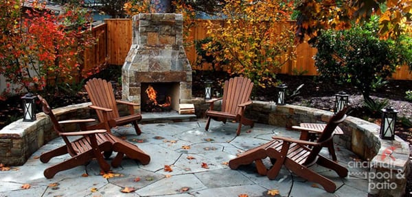 patio furniture in fall