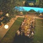 party in backyard