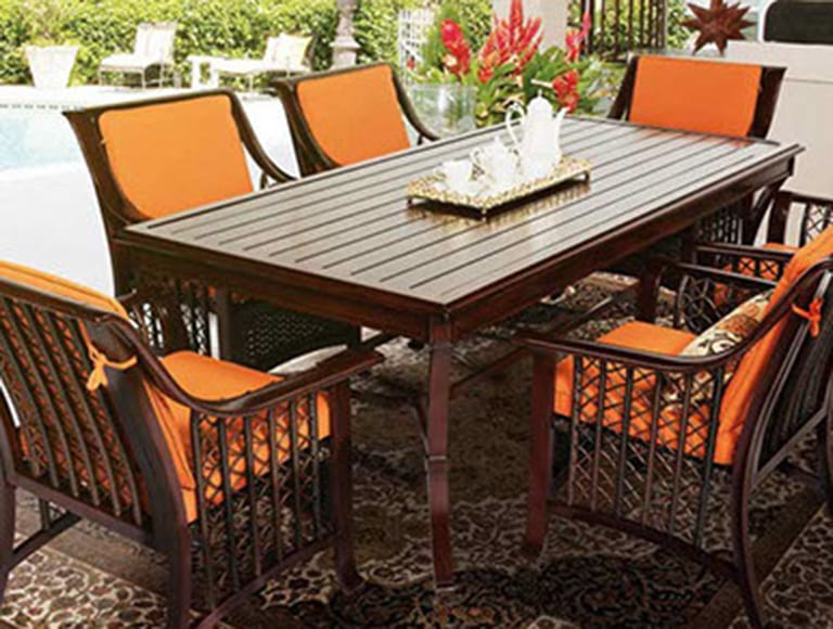 orange patio furniture