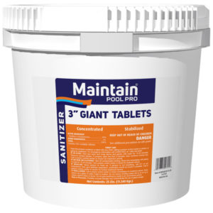 "Maintain Pool Pro 3"" Giant Tri-Chlor Tablets"