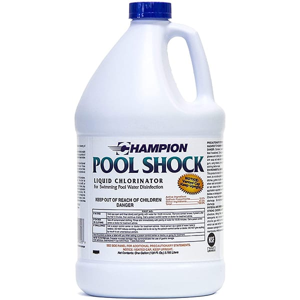 Champion Pool Shock Liquid (Sodium Hypochlorite) - 4gal
