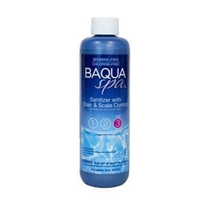 BAQUASPA Sanitizer with Stain & Scale Control - 16 Fl. Oz.