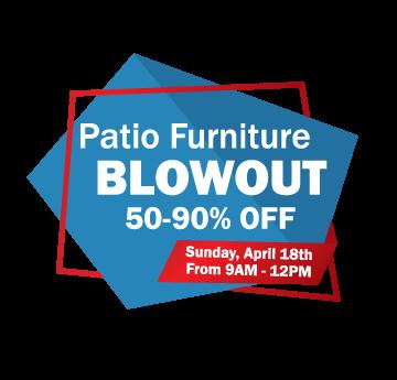 Patio Furniture Blowout Sale